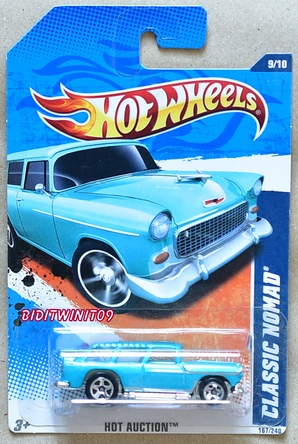 HOT WHEELS 2011 HOT AUCTION CLASSIC NOMAD KMART EXCLUSIVE