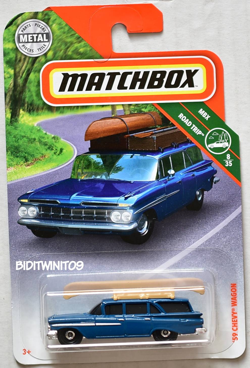 MATCHBOX 2018 MBX ROAD TRIP '59 CHEVY WAGON