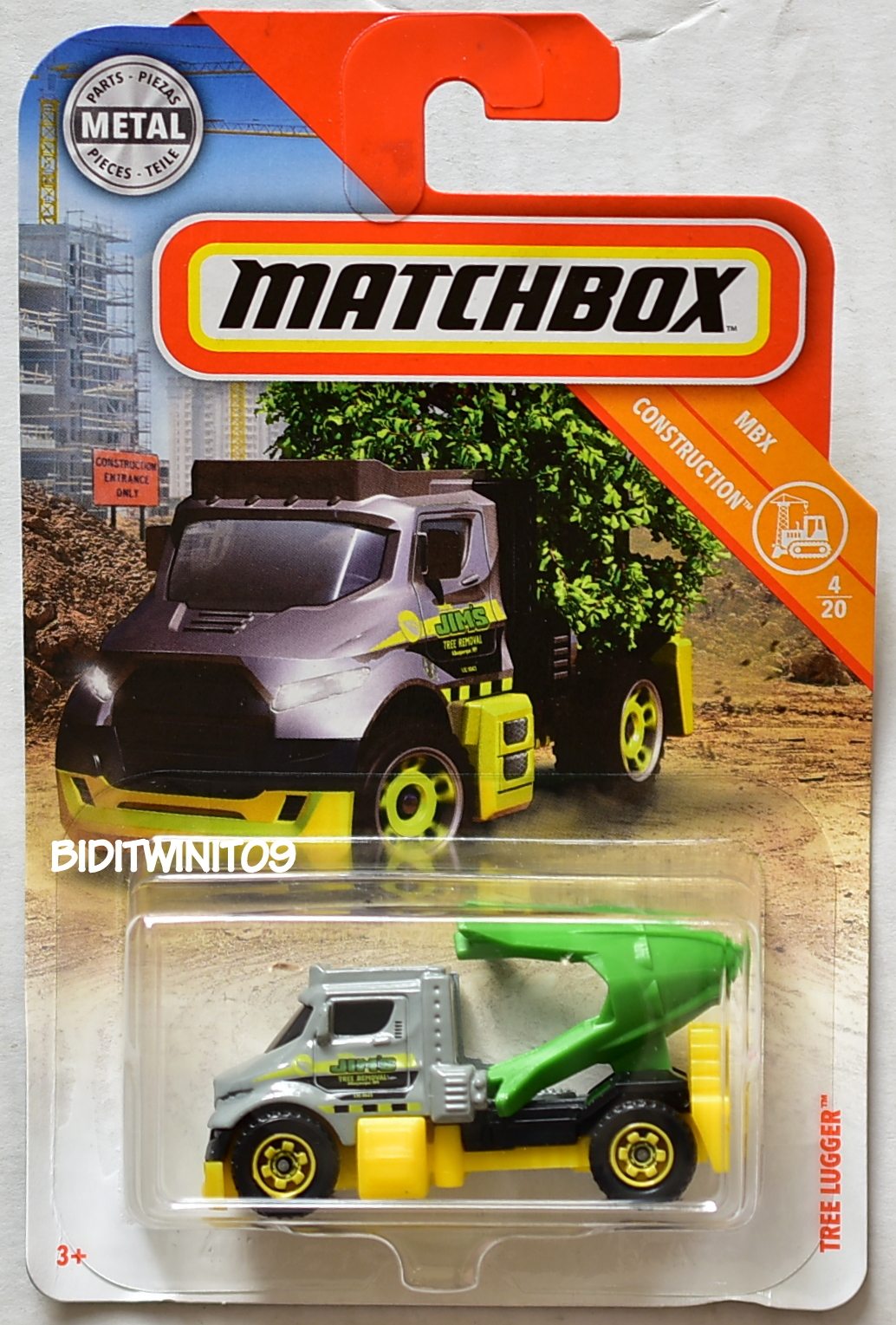 MATCHBOX 2018 MBX CONSTRUCTION TREE LUGGER