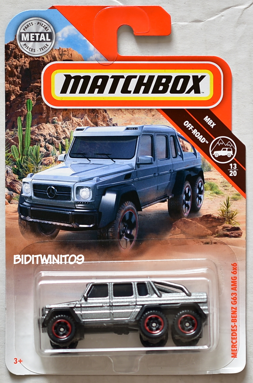 MATCHBOX 2018 MBX OFF-ROAD MERCEDES-BENZ G63 AMG 6X6