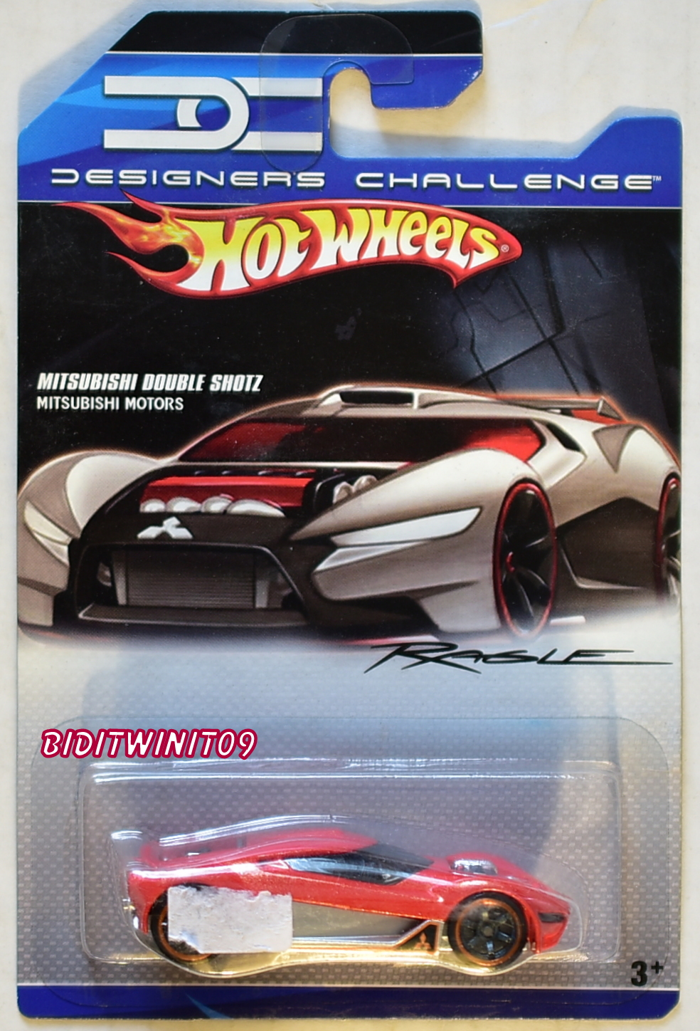 HOT WHEELS 2007 DESIGNERS CHALLENGE MITSUBISHI DOUBLE SHOTZ RED
