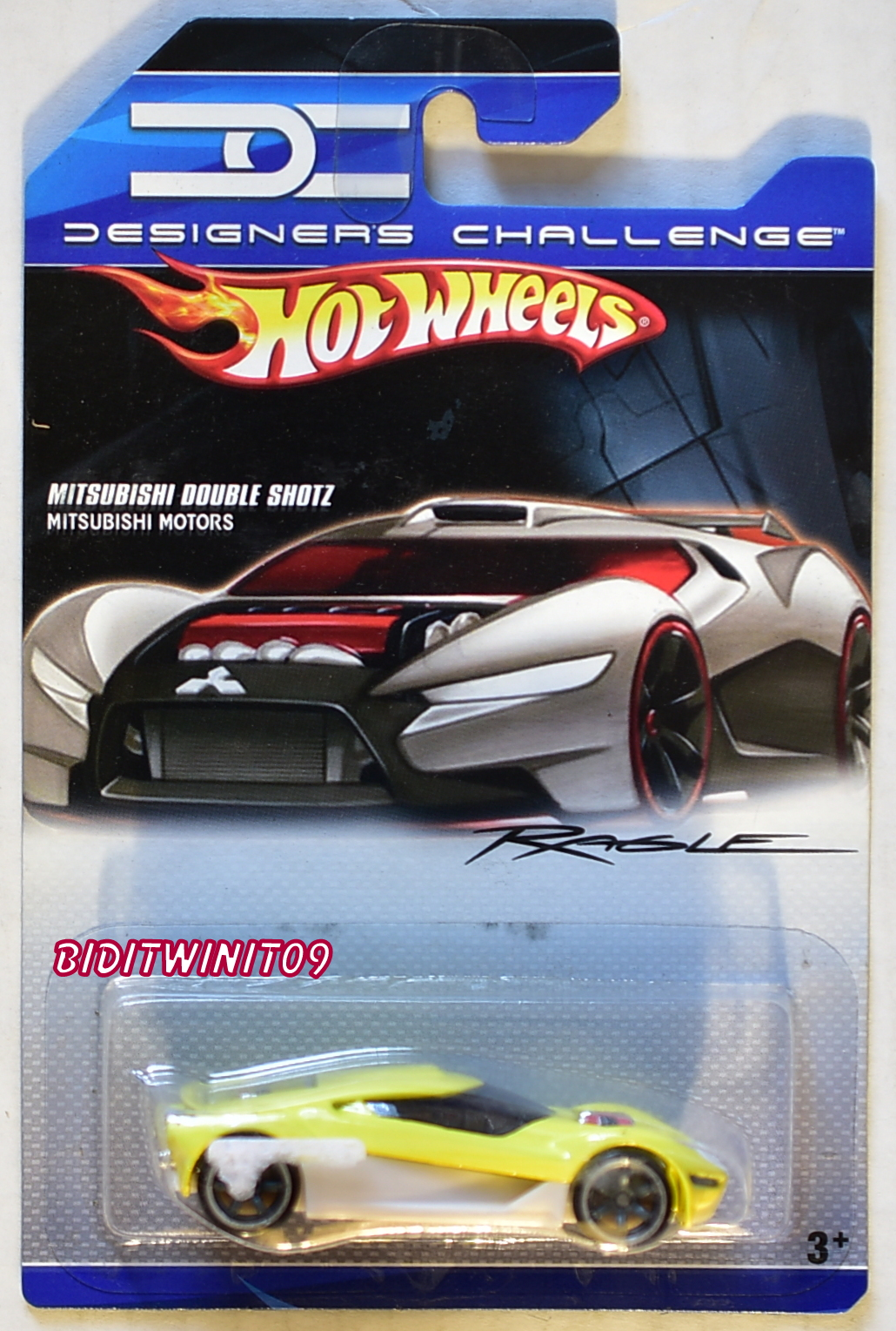 HOT WHEELS 2007 DESIGNERS CHALLENGE MITSUBISHI DOUBLE SHOTZ YELLOW
