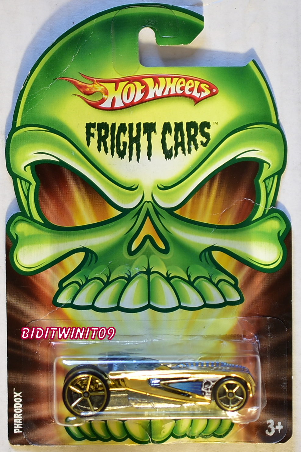HOT WHEELS 2008 FRIGHT CARS PHARODOX GOLD