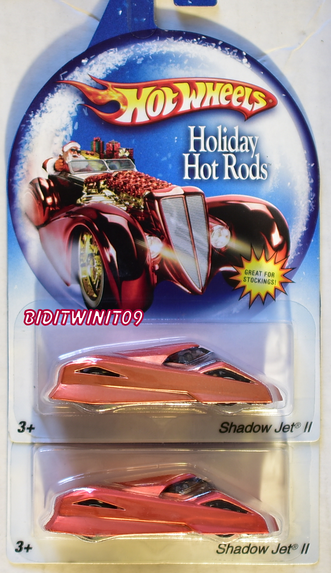 HOT WHEELS HOLIDAY HOTRODS SHADOW JET II COLOR VARIATION E+