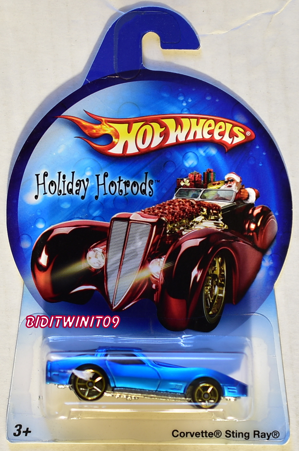 HOT WHEELS HOLIDAY HOTRODS CORVETTE STING RAY BLUE