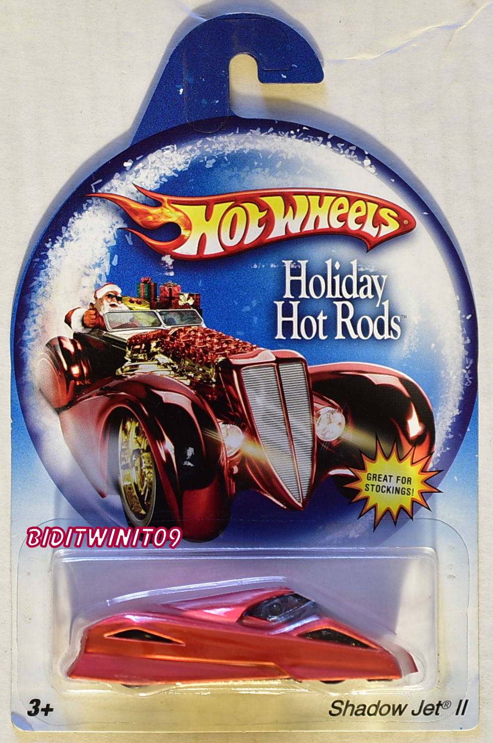 HOT WHEELS HOLIDAY HOTRODS SHADOW JET II RED E+