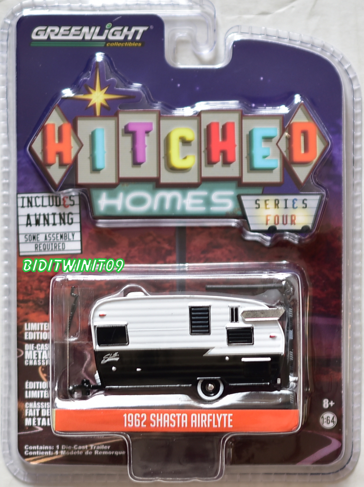 GREENLIGHT 2018 HITCHED HOMES SERIES FOUR 1962 SHASTA AIRFLYTE