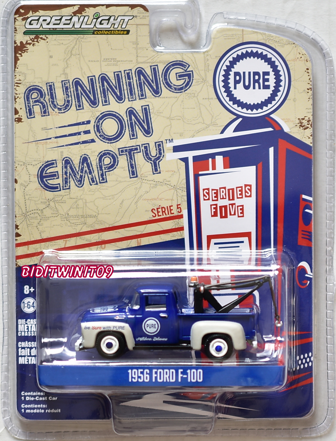 GREENLIGHT 2018 RUNNING ON EMPTY SERIES 5 1956 FORD F-100 BLUE