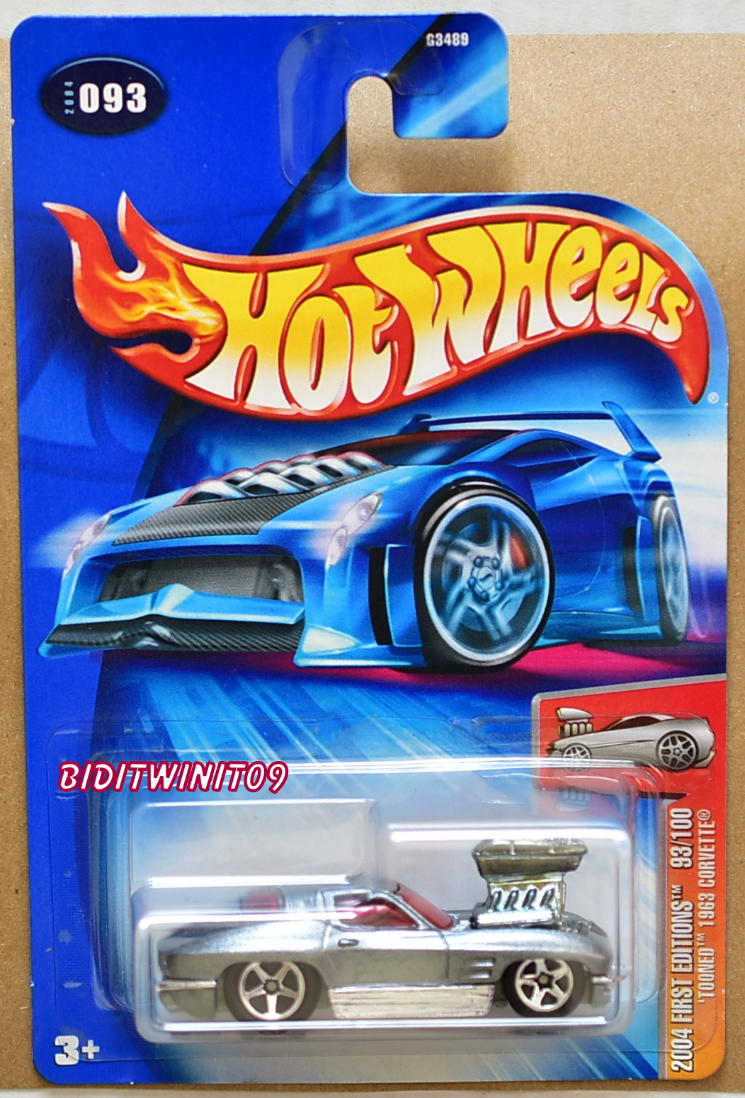 HOT WHEELS 2004 FIRST EDITIONS TOONED 1963 CORVETTE SILVER