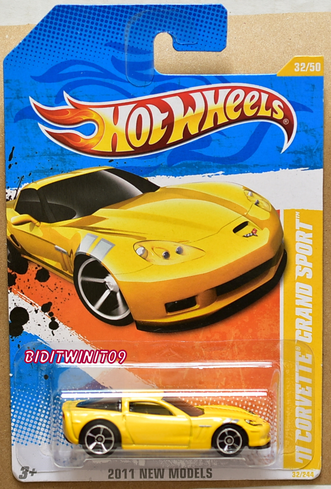 HOT WHEELS 2011 NEW MODELS '11 CORVETTE GRAND SPORT YELLOW