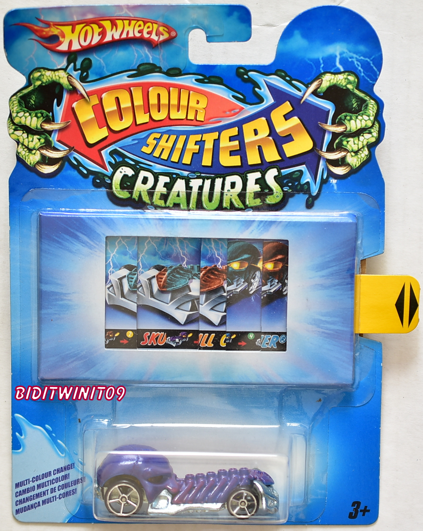 HOT WHEELS 2011 COLOR SHIFTERS CREATURES SKULL CRUSHER E+