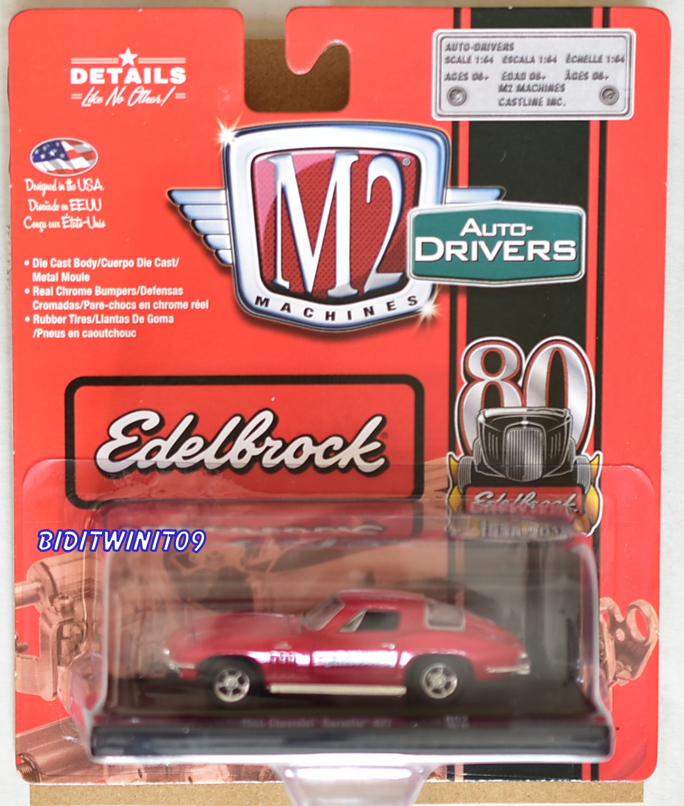 M2 MACHINES AUTO-DRIVERS EDELBROCK 1966 CHEVROLET CORVETTE 427 R52