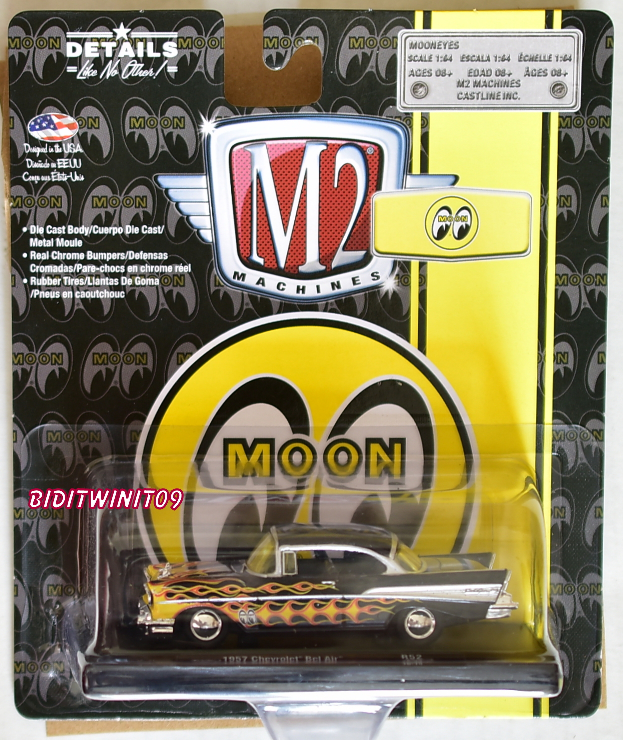 M2 MACHINES AUTO-DRIVERS MOON EYES 1957 CHEVROLET BEL AIR R52