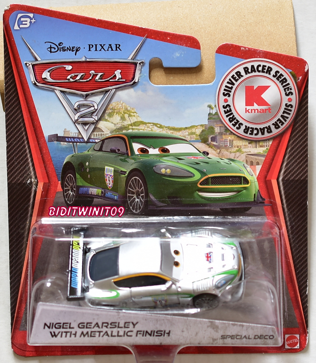DISNEY PIXAR CARS 2 KMART EXCLUSIVE NIGEL GEARSLEY WITH METALLIC FINISH