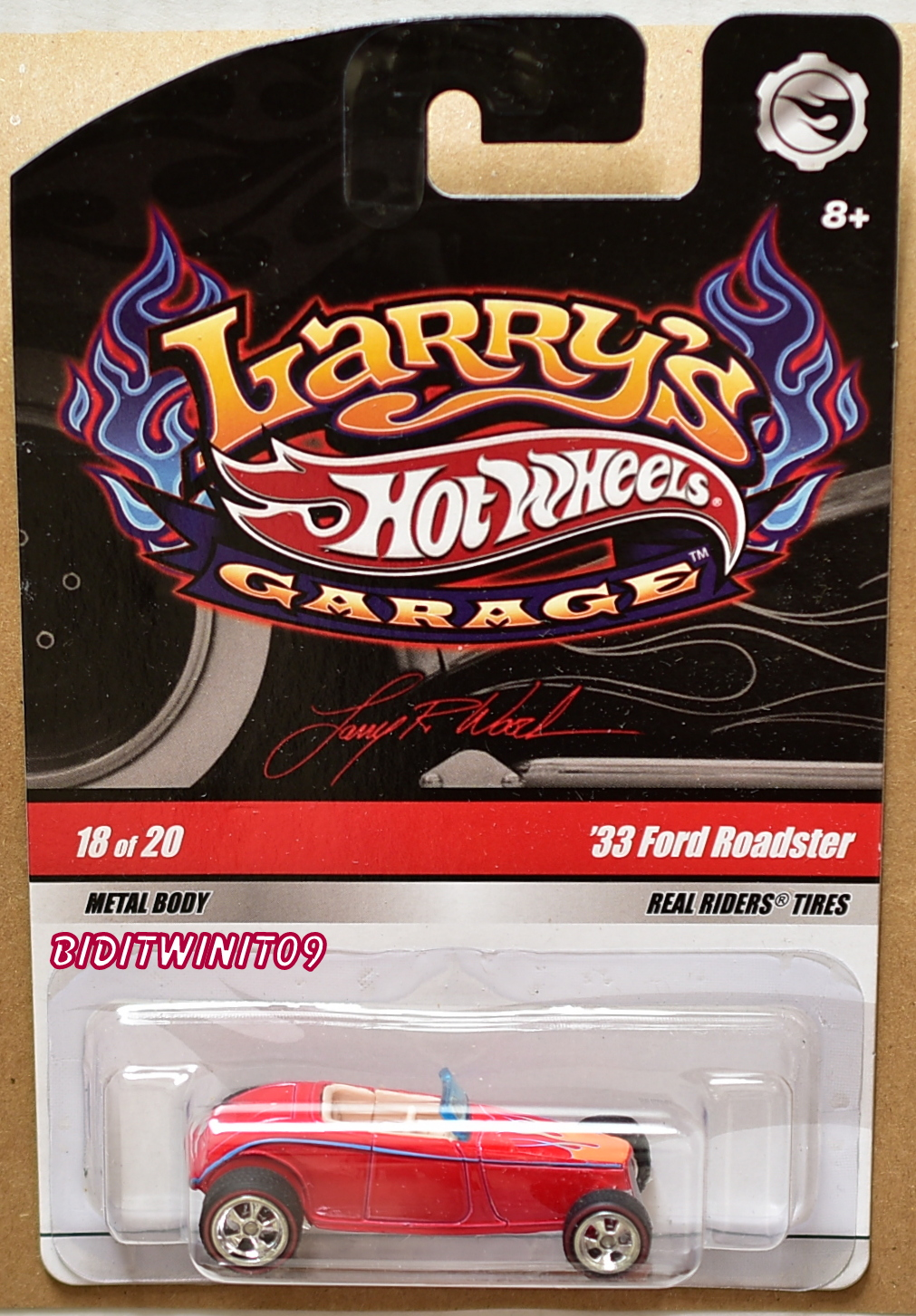 HOT WHEELS LARRY'S GARAGE '33 FORD ROADSTER #18/20 RED E+