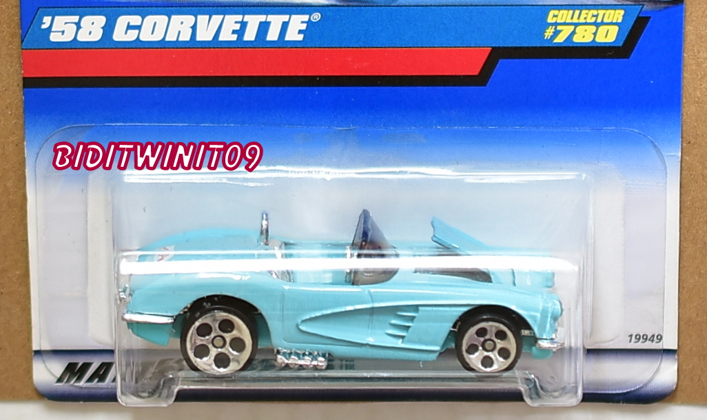 HOT WHEELS 1998 '58 CORVETTE #780