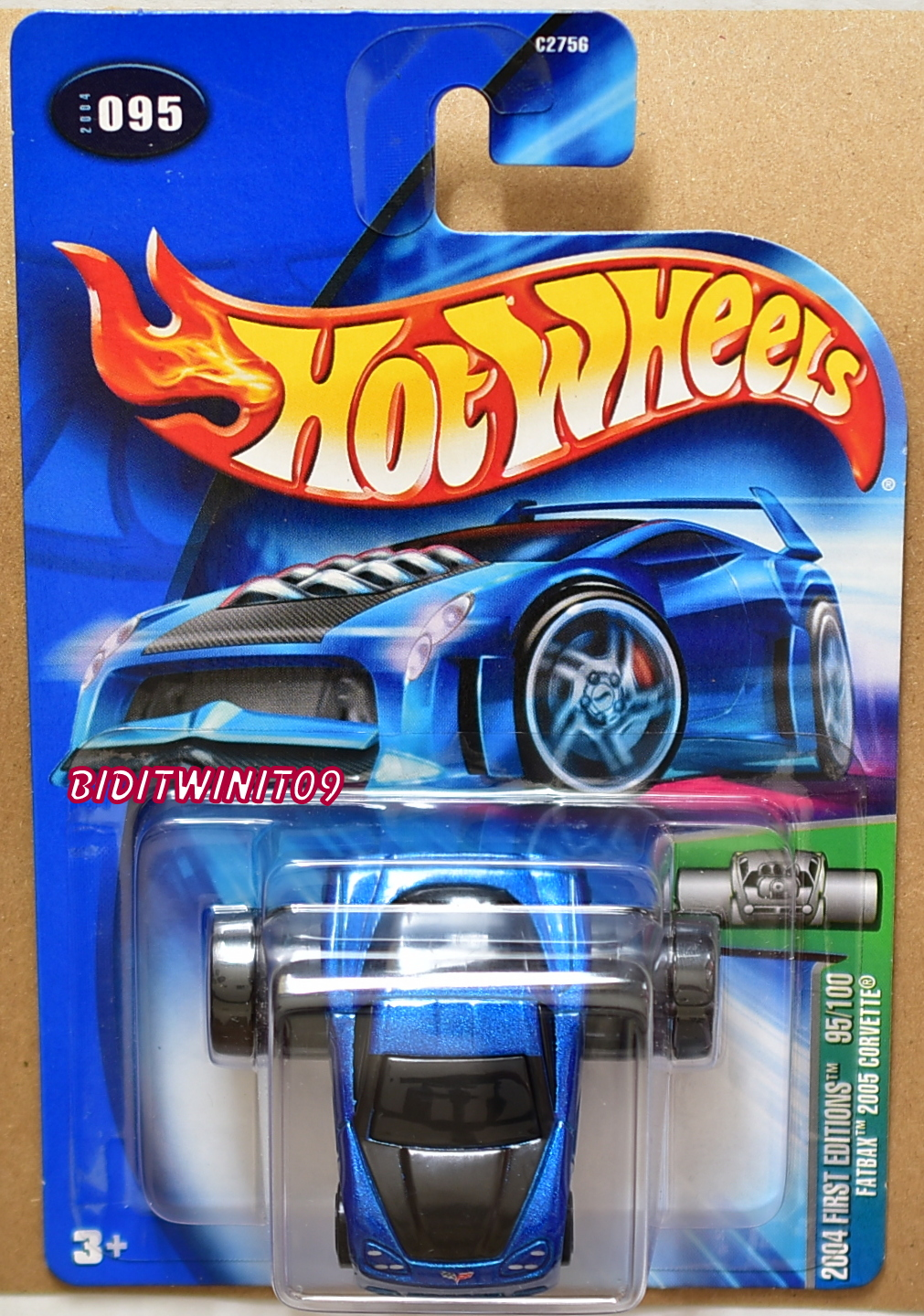 HOT WHEELS 2004 FIRST EDTITIONS FATBAX CORVETTE C6 #095 BLUE