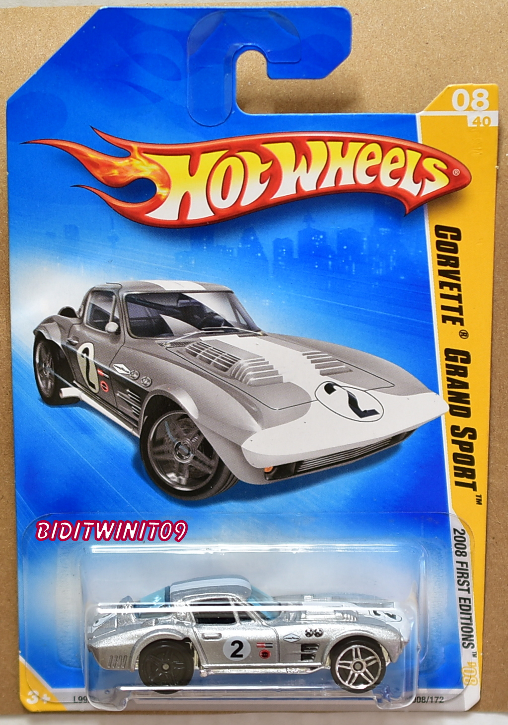 HOT WHEELS 2008 FIRST EDITIONS CORVETTE GRAND SPORT WHEELS ERROR E+