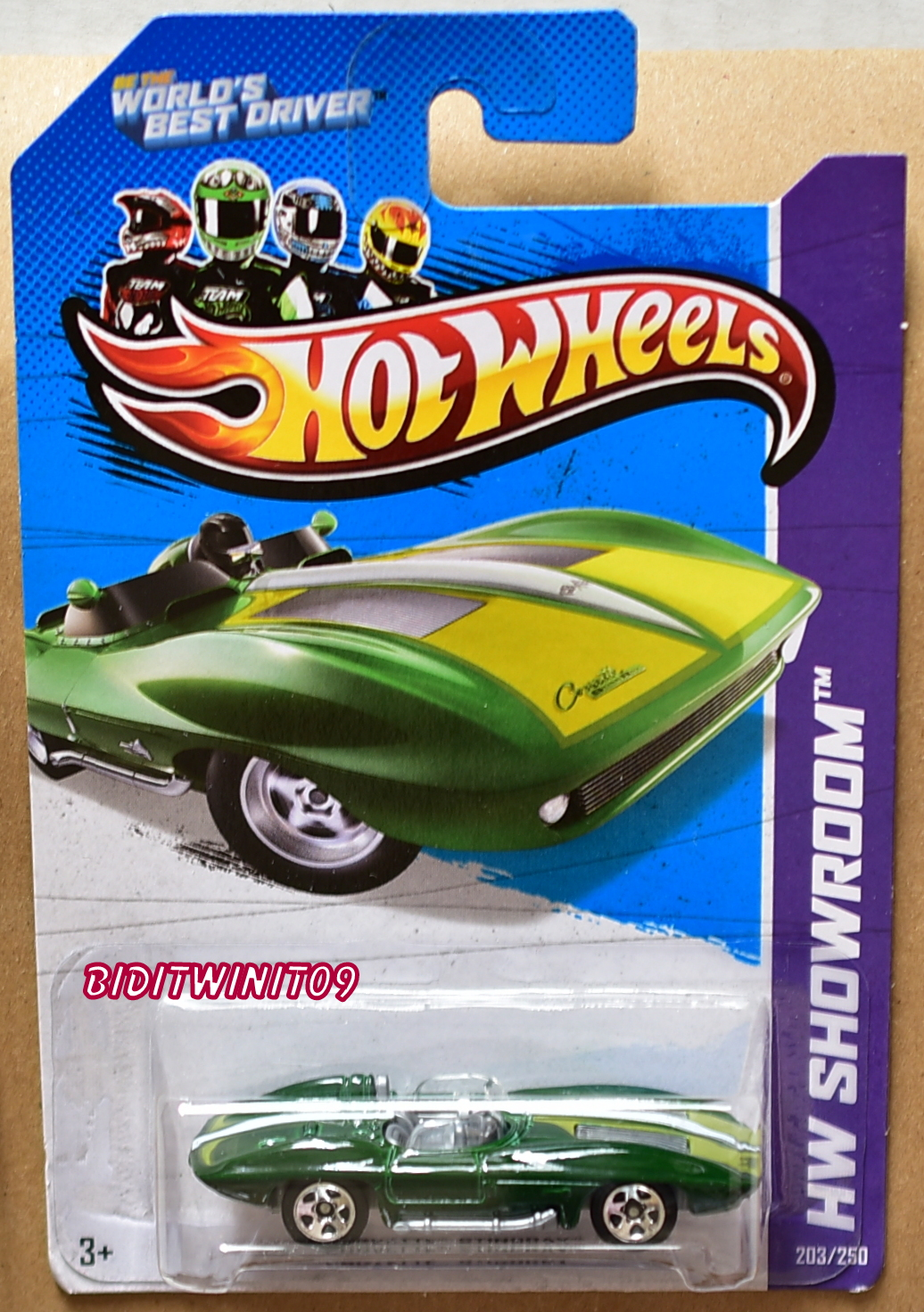 HOT WHEELS 2013 HW SHOWROOM - CORVETTE 60 CORVETTE STINGRAY