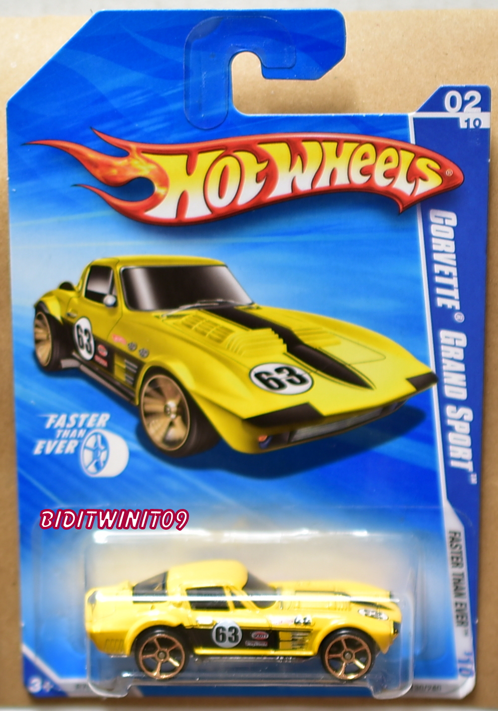 HOT WHEELS 2010 FASTER THAN EVER CORVETTE GRAND SPORT #02/10 YELLOW