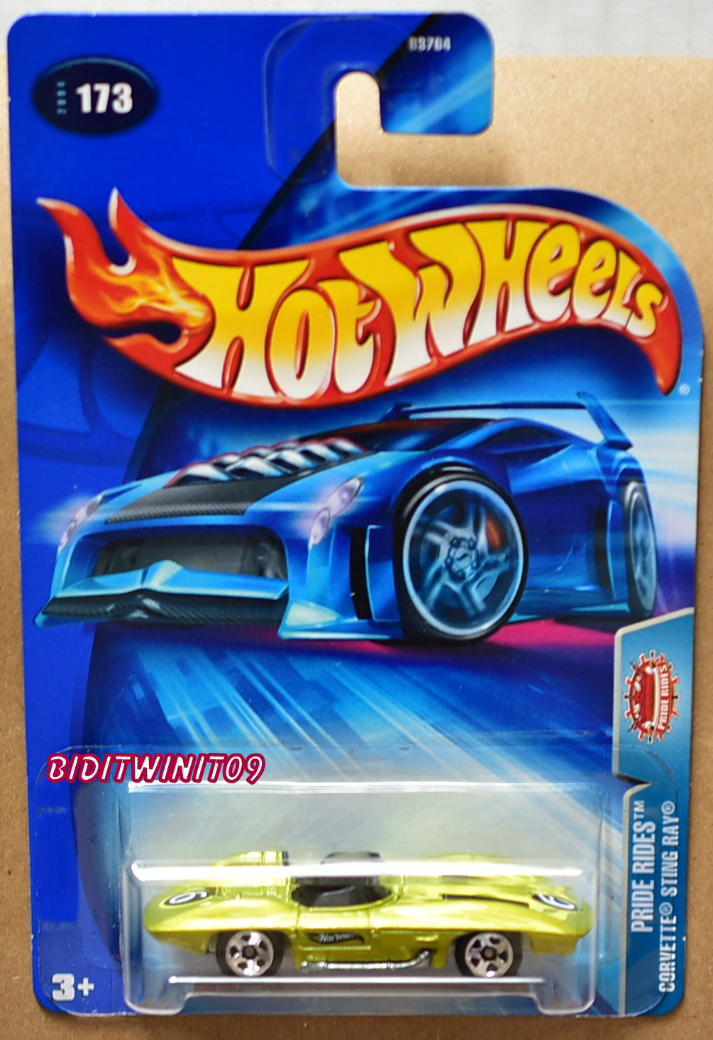 HOT WHEELS 2004 PRIDE RIDES CORVETTE STINGRAY #173