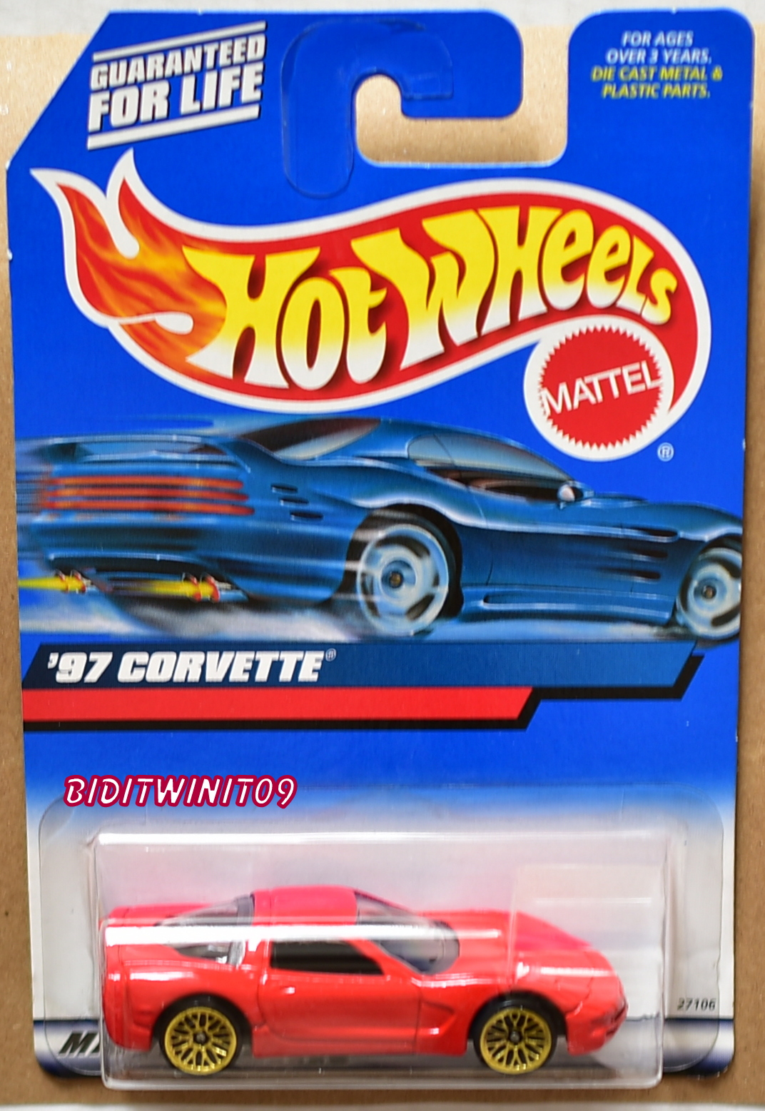 HOT WHEELS 2000 '97 CORVETTE RED E+