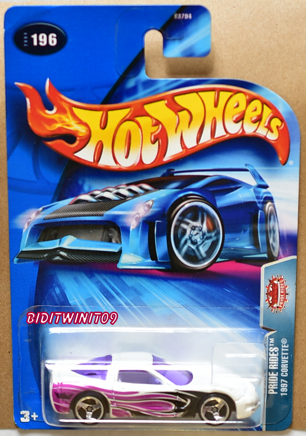 HOT WHEELS 2004 PRIDE RIDES 1997 CORVETTE #196 WHITE E+
