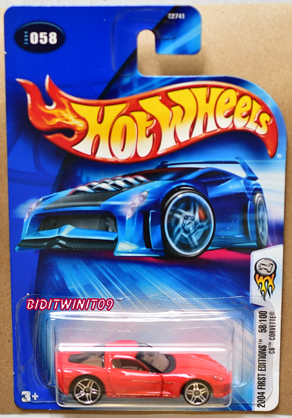 HOT WHEELS 2004 FIRST EDITIONS C6 CORVETTE #058 RED