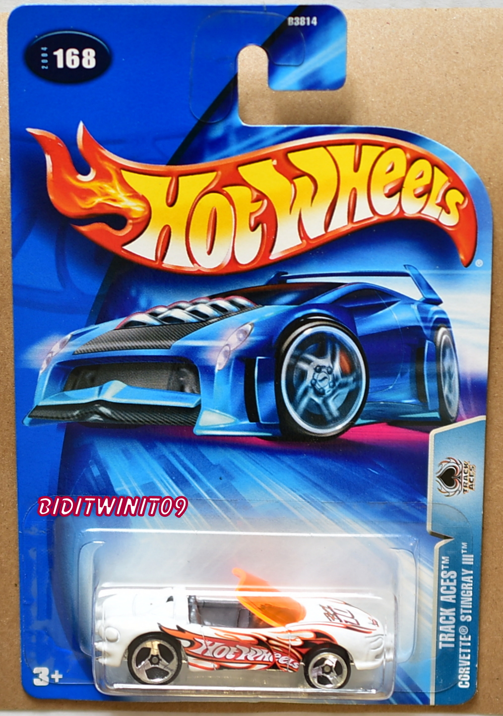 HOT WHEELS 2004 TRACK ACES CORVETTE STINGRAY III #168