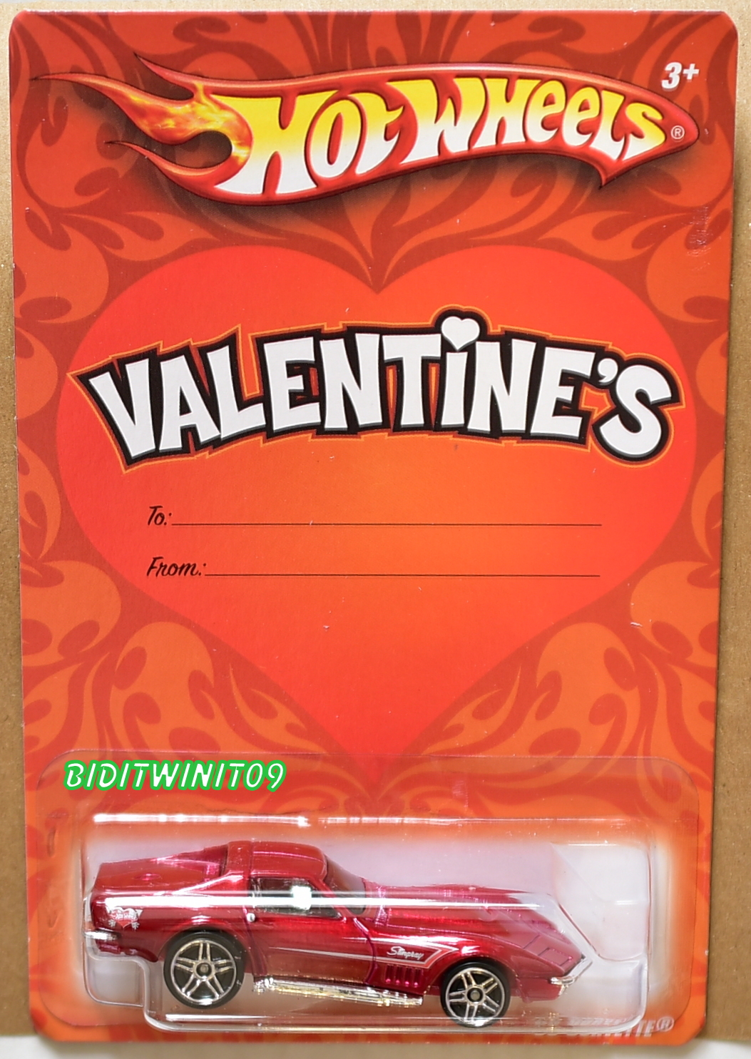 HOT WHEELS VALENTINE'S '69 CORVETTE