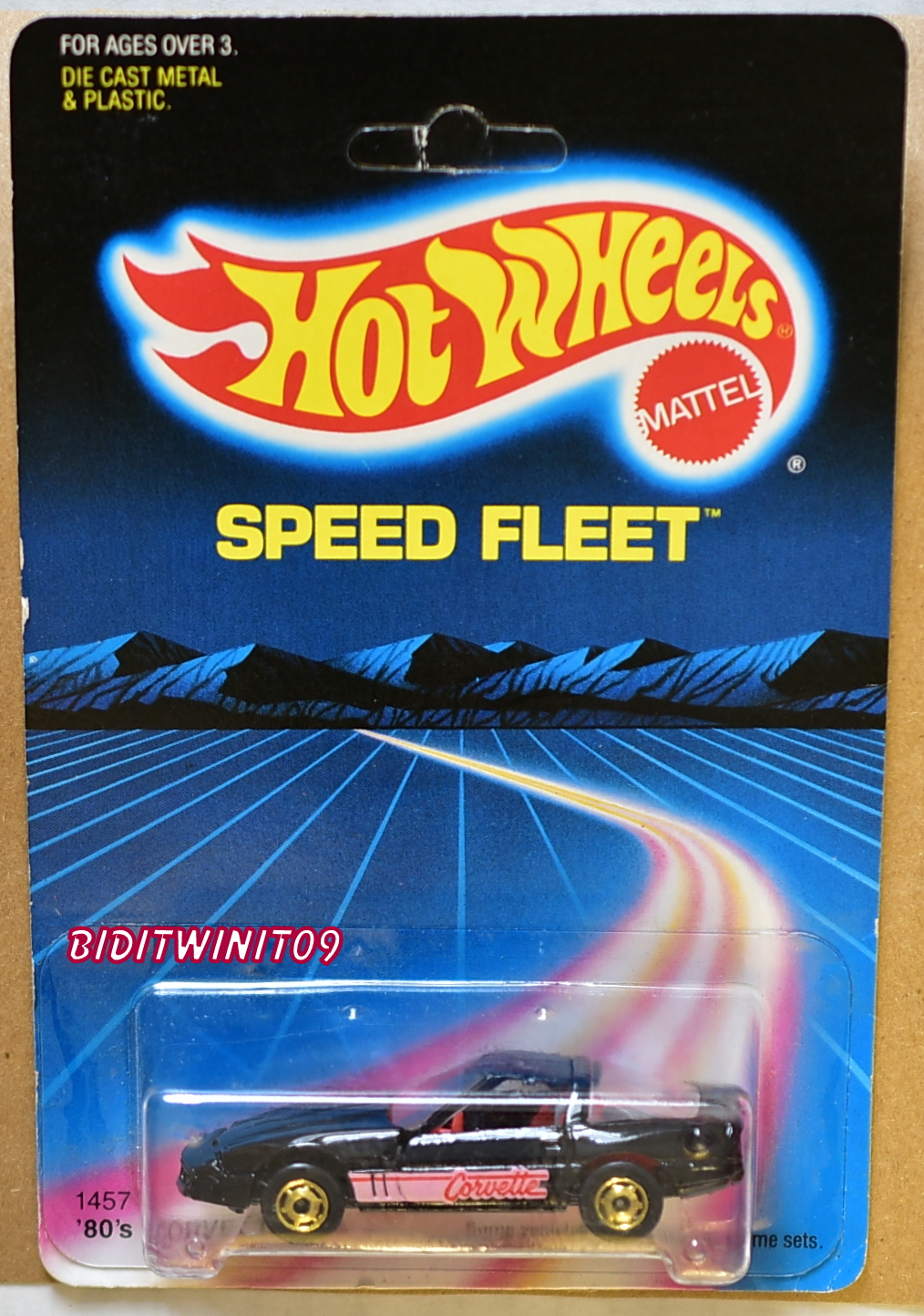HOT WHEELS 1986 SPEED FLEET CUSTOM CORVETTE W/ GREY LUGGAGE