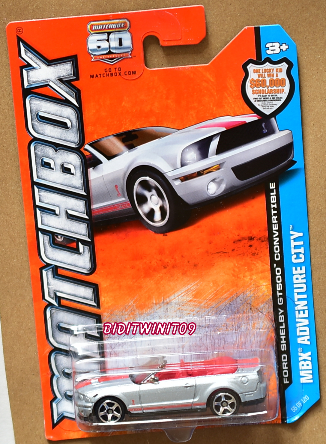 MATCHBOX MBX ADVENTURE CITY FORD SHELBY GT500 CONVERTIBLE