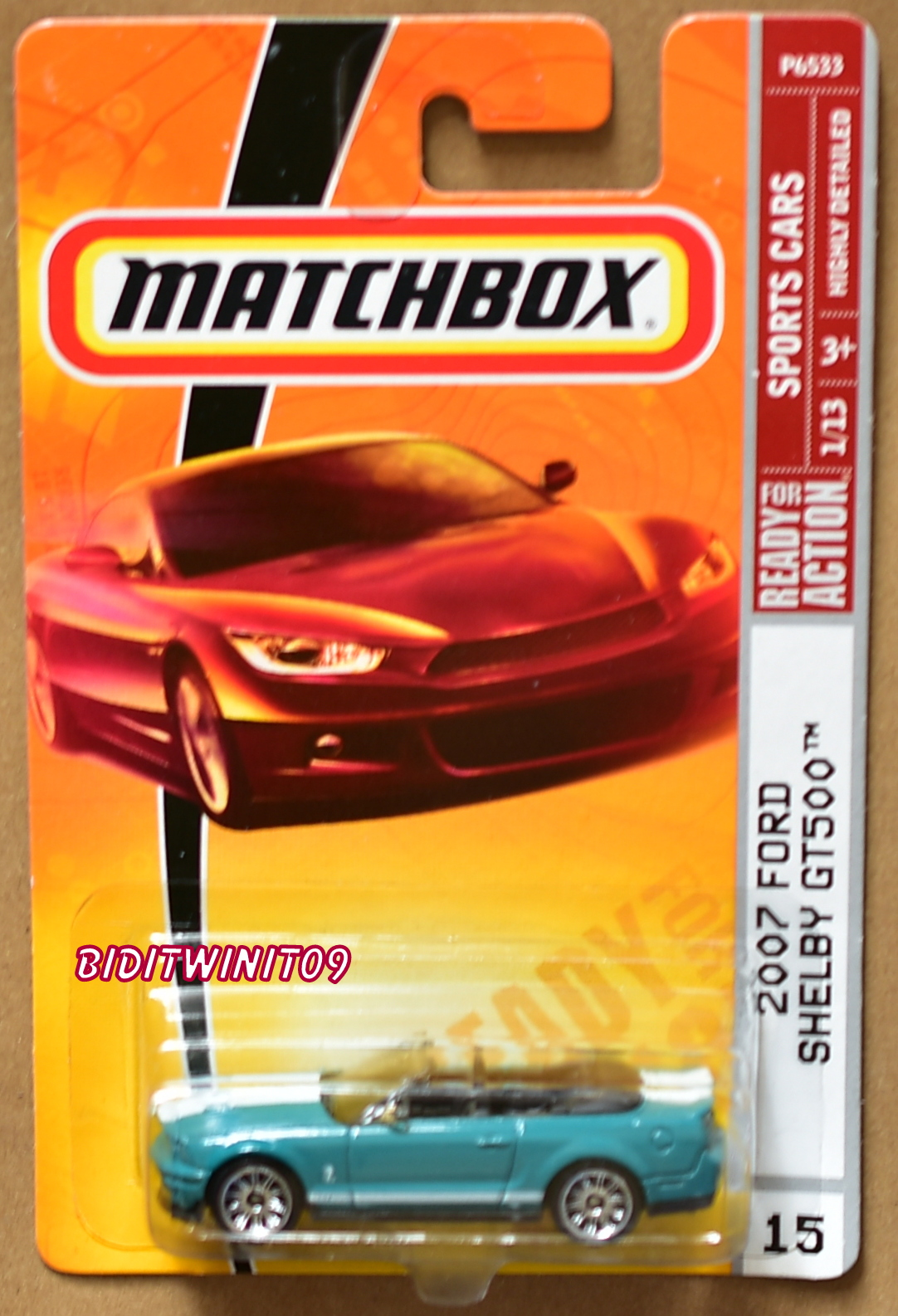 MATCHBOX 2009 SPORTS CARS 2007 FORD SHELBY GT500 TURQUOISE E+