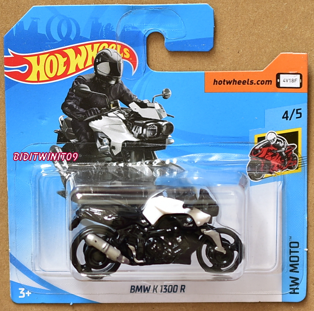 HOT WHEELS 2018 HW MOTO BMW K 1300 R WHITE SHORT CARD