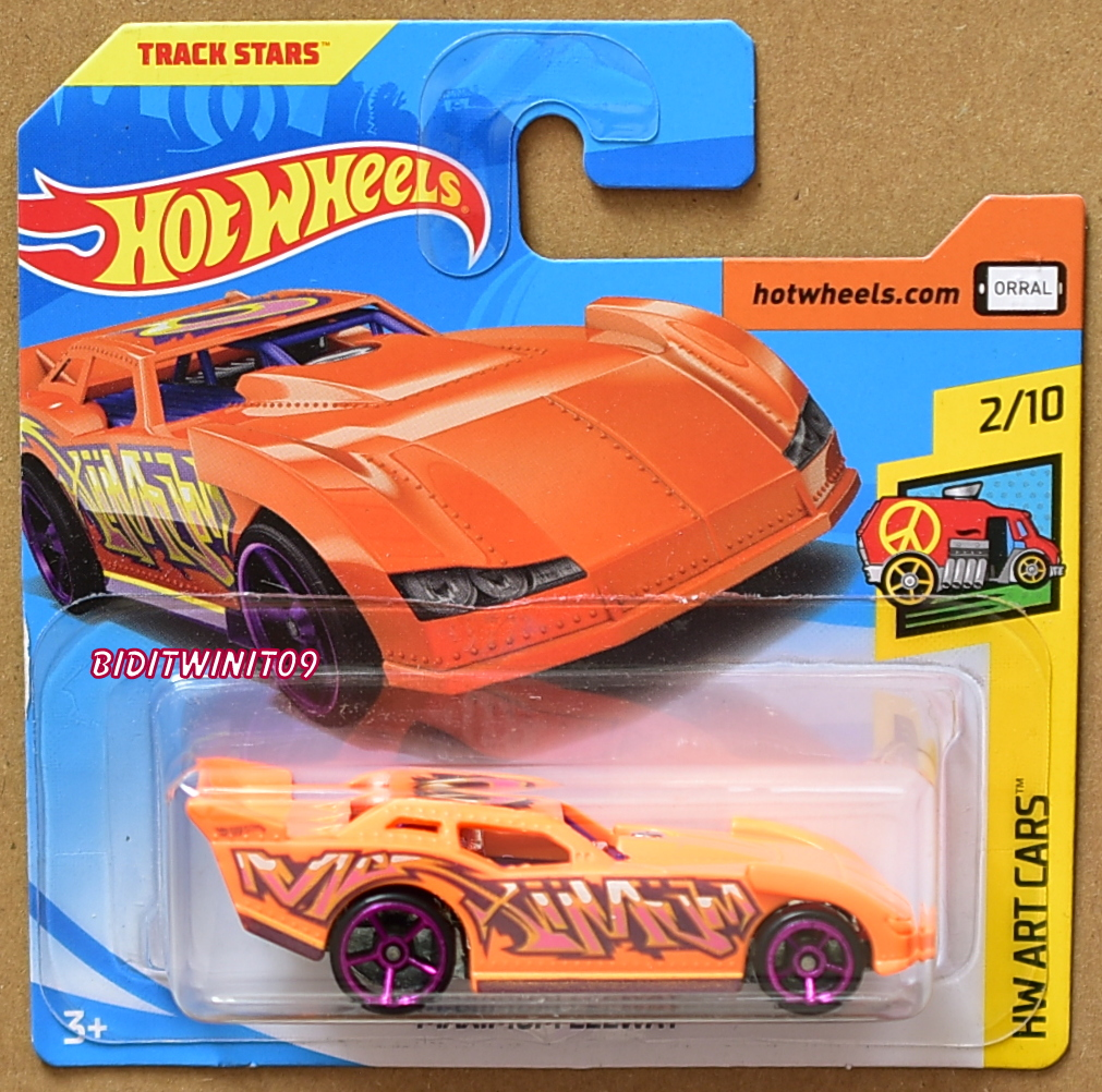 HOT WHEELS 2018 HW ART CARS MAXIMUM LEEWAY SHORT CARD