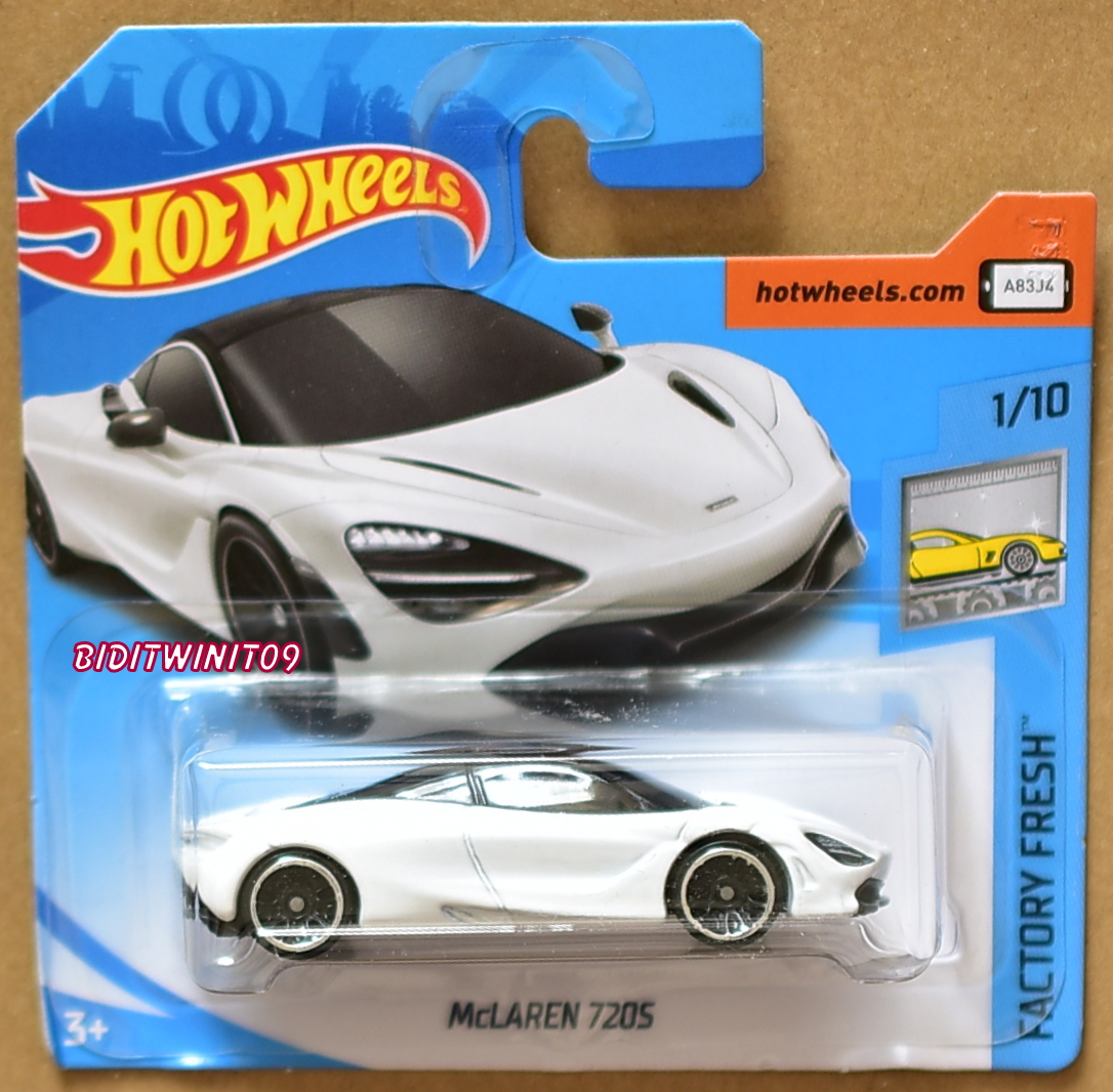 HOT WHEELS 2018 FACTORY FRESH MCLAREN 720S WHITE SHORT CARD