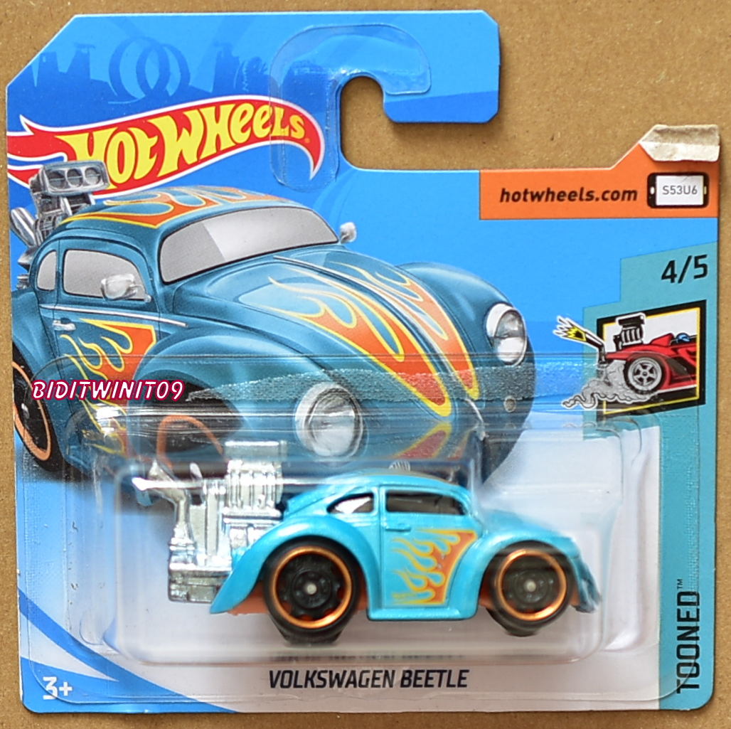 HOT WHEELS 2018 TOONED VOLKSWAGEN BEETLE #4/5 SHORT CARD