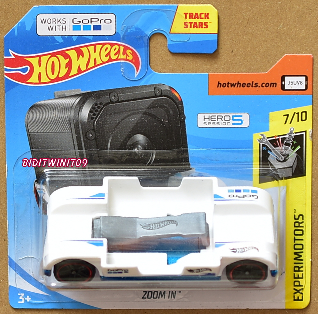 New Hot Wheels GoPro Hero Session 5 Experimotors Zoom In White