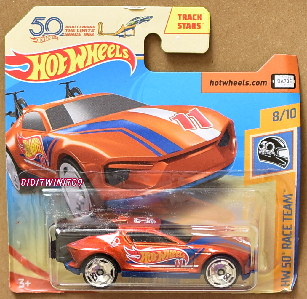 HOT WHEELS 2018 HW 50TH RACE TEAM RISE 'N CLIMB ORANGE SHORT CARD