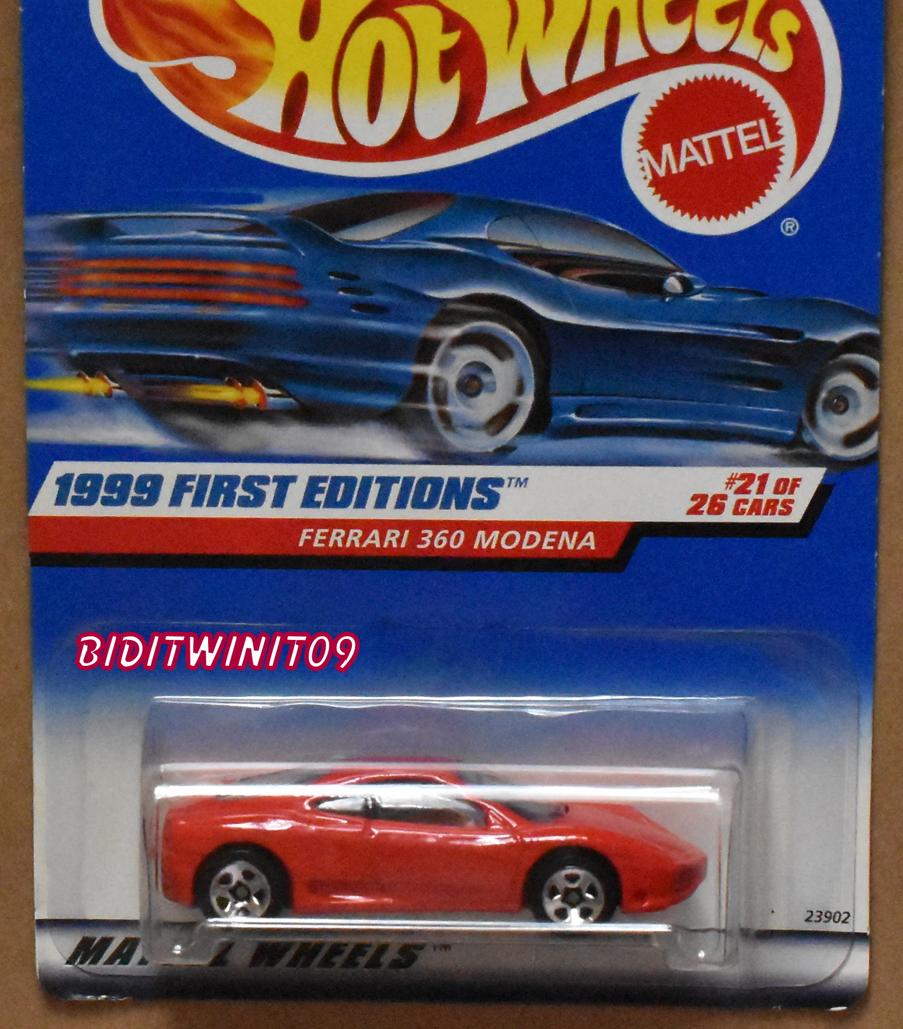 HOT WHEELS 2006 FIRST EDITIONS FERRARI 512 M #005 BLUE FACTORY SEALED