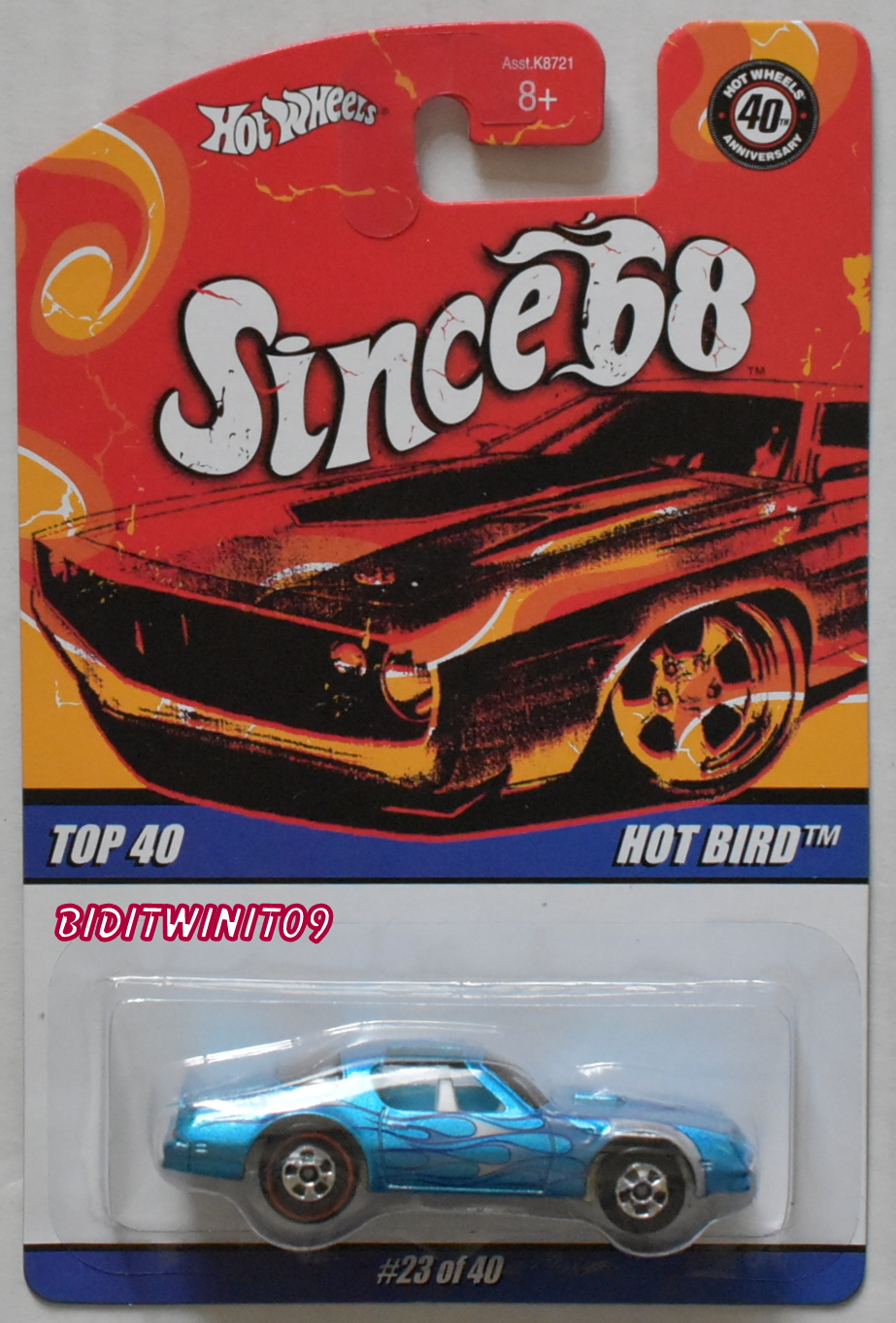 HOT WHEELS SINCE 68 TOP 40 HOT BIRD WHEELS ERROR E+