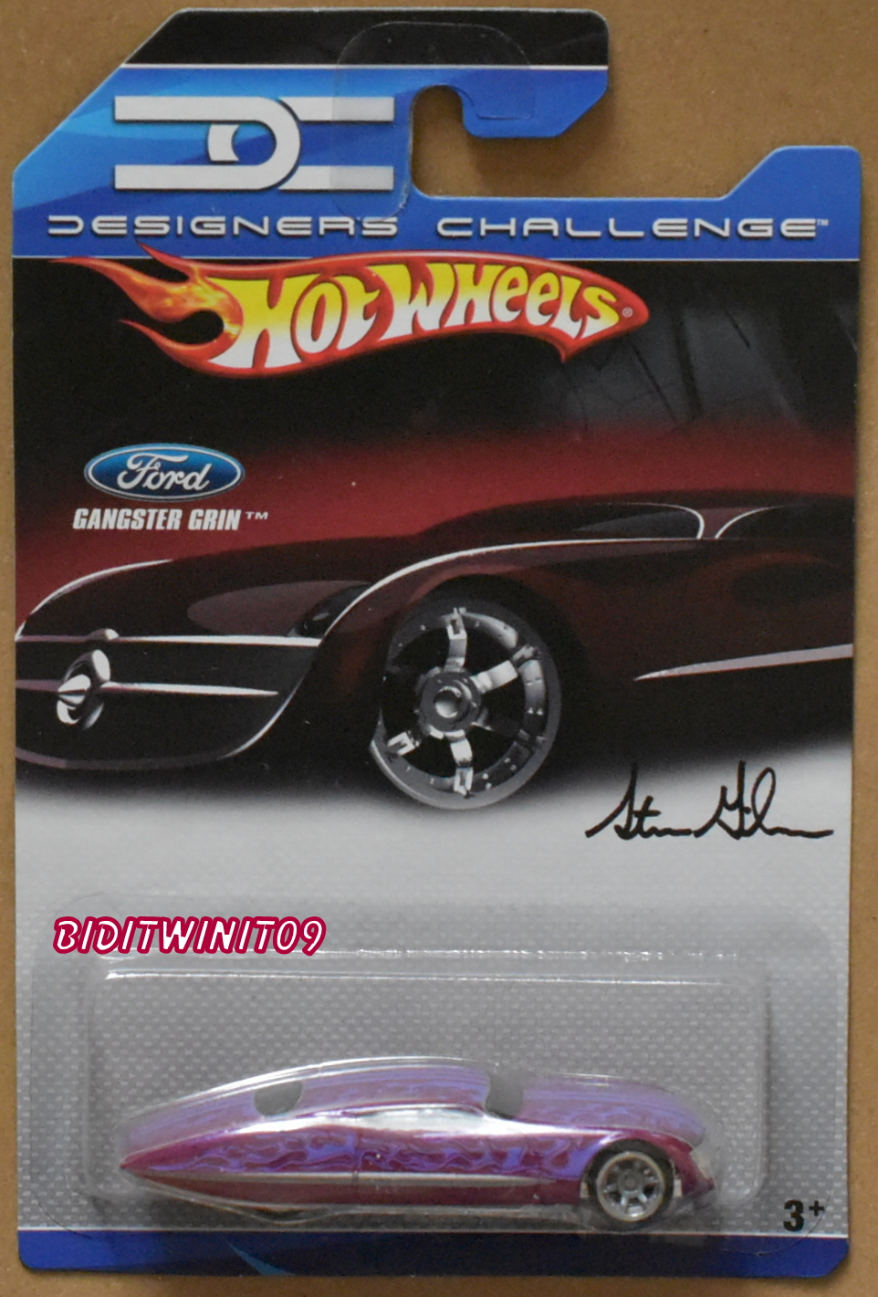 HOT WHEELS 2007 DESIGNERS CHALLENGE GANGSTER GRIN PURPLE