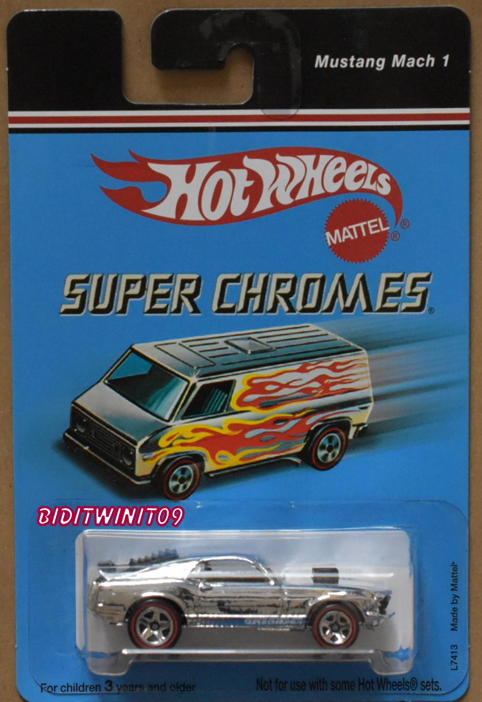 HOT WHEELS SUPER CHROMES MUSTANG MACH 1 L7413