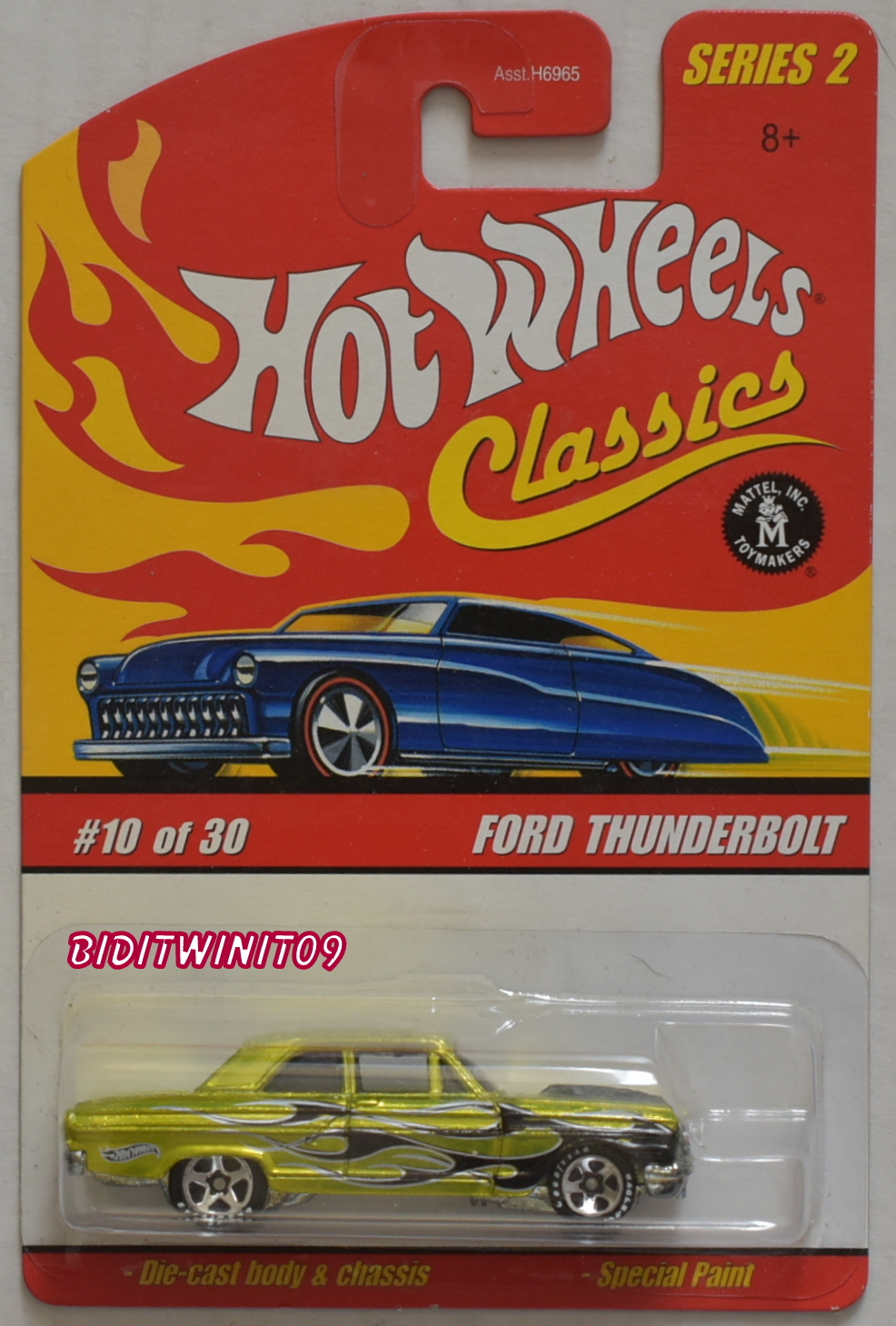 HOT WHEELS CLASSICS SERIES 2 #10/30 FORD THUNDERBOLT GREEN