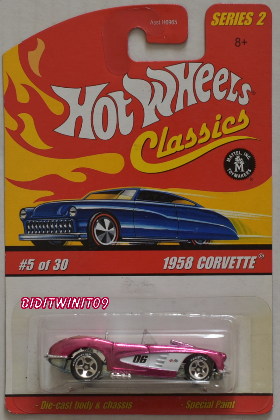 HOT WHEELS CLASSICS SERIES 2 #5/30 1958 CORVETTE PINK