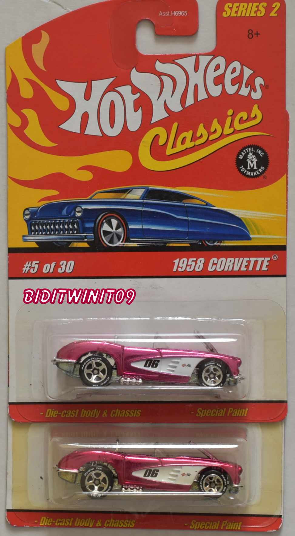 HOT WHEELS CLASSICS SERIES 2 #5/30 1958 CORVETTE COLOR VARIATION E+