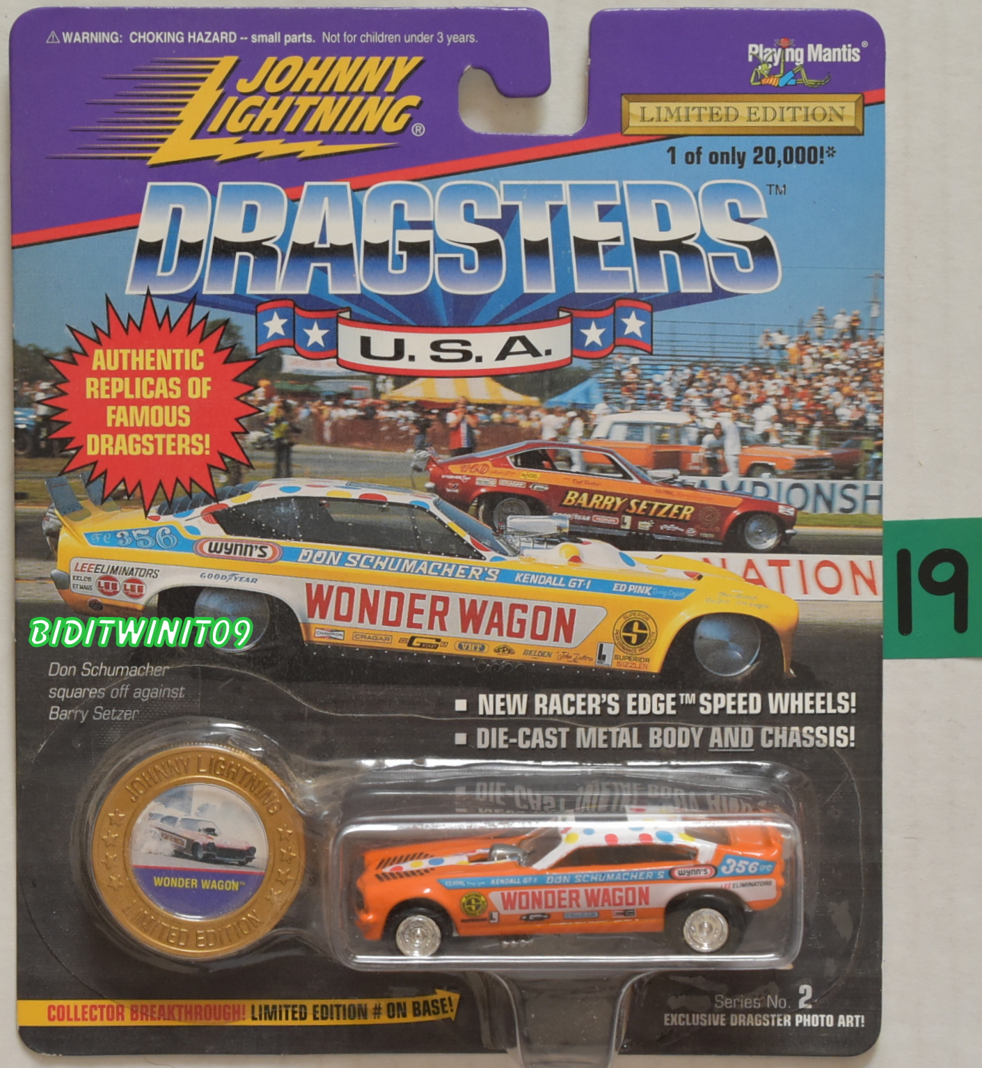 JOHNNY LIGHTNING DRAGSTERS WONDER WAGON #2 LIMITED EDITION E+