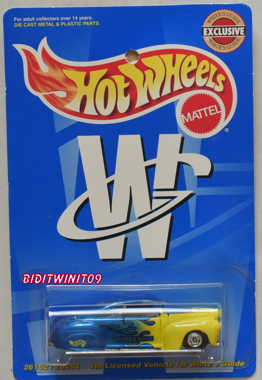 HOT WHEELS WHITE GUIDE EXCLUSIVE - TAIL DRAGGER BLUE /YELLOW E+