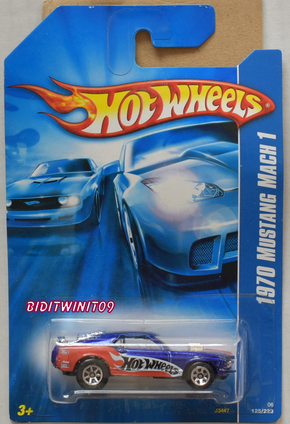 HOT WHEELS 2006 1970 MUSTANG MACH 1 BLUE