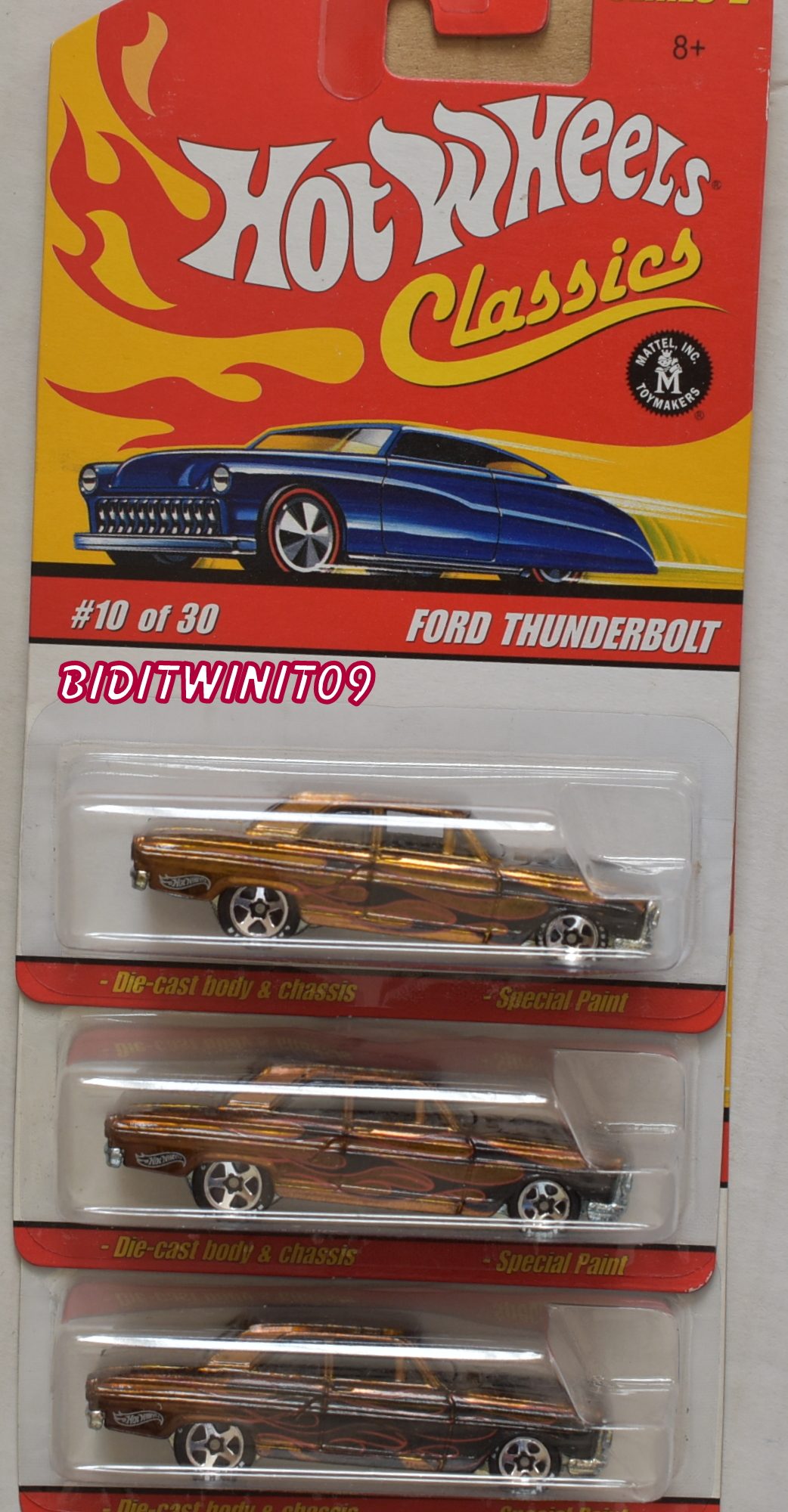 HOT WHEELS CLASSICS SERIES 2 #10/30 FORD THUNDERBOLT VARIATION E+